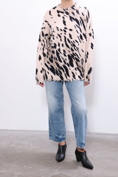 R13 Cheetah Oversized Sweater - Cheetah Print