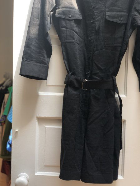 Pre-loved Theory Belted Romper - Black