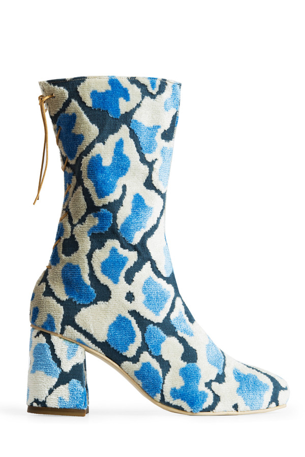 Rafa Convertible Midi Boot – Blue Loom