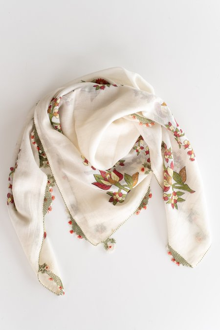 VINTAGE Nar Project SCARF - WHITE
