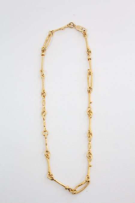 Leigh Miller Doodle Chain Choker - Gold Plated