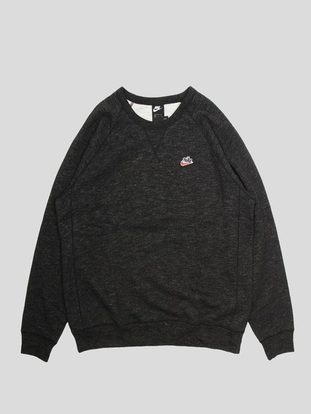 Nike M NSW Heritage Crw Ft Tshirt - Black Heather