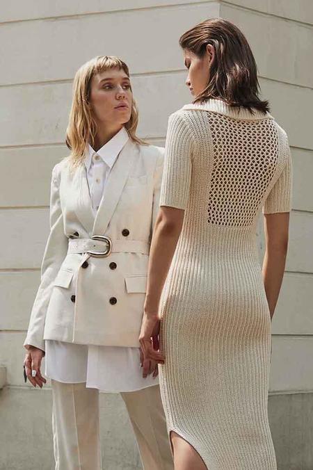 Index Series Viscose Rib Knit Maxi Dress