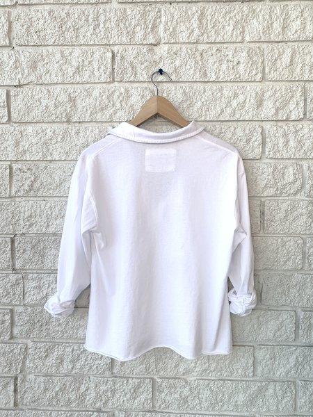 Frank & Eileen LONG SLEEVE POPOVER - White