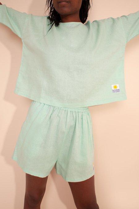 L.F.Markey Basic Linen Top - Mint