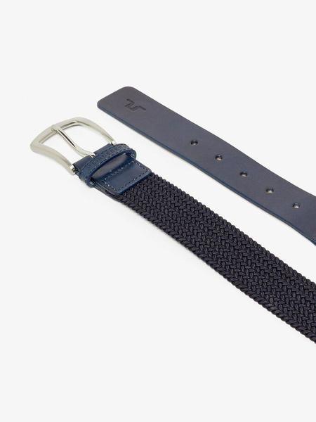 J Lindeberg Caspian Elastic Braid Belt - Navy