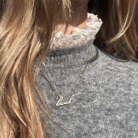 Thatch Loved Script Necklace - Gold