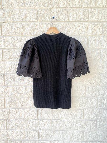 Sea Ny Nadene Lace Combo Sweater