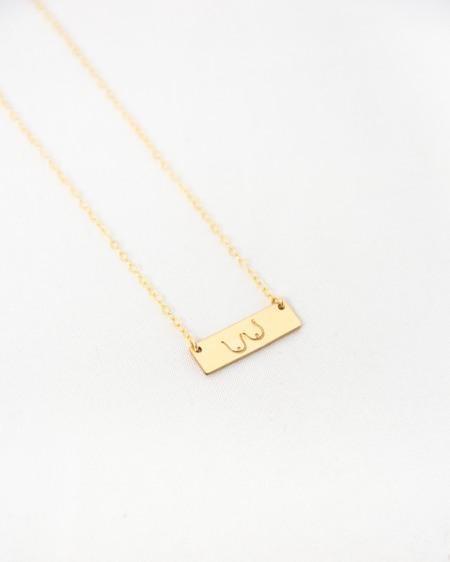 Amara Blue Designs Femme Libre Bar Necklace