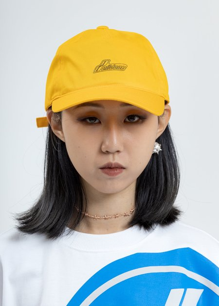 WE11DONE Iridescent Logo Cap - Yellow