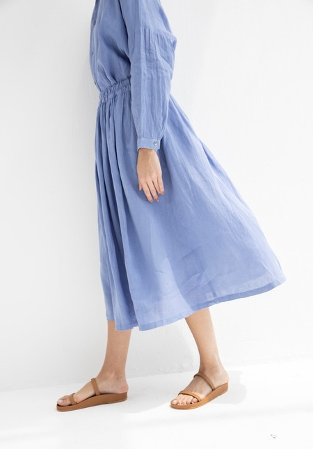 Ichi Antiquites Linen Skirt - Blue