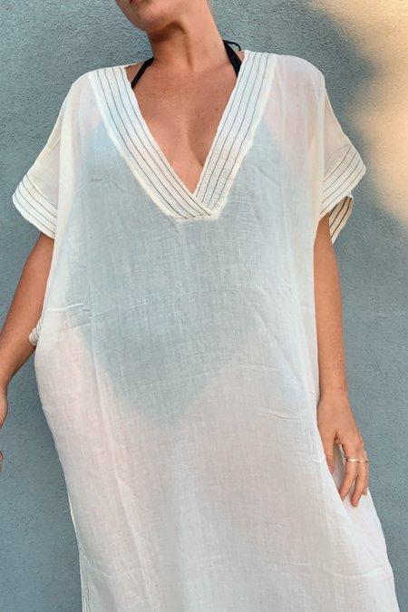 Handloom Ela Full Length Caftan - White