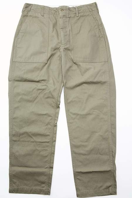 Engineered Garments Cotton Herringbone Twill Fatigue Pant - Olive