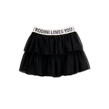 Kids Mini Rodini Tulle Skirt - Black
