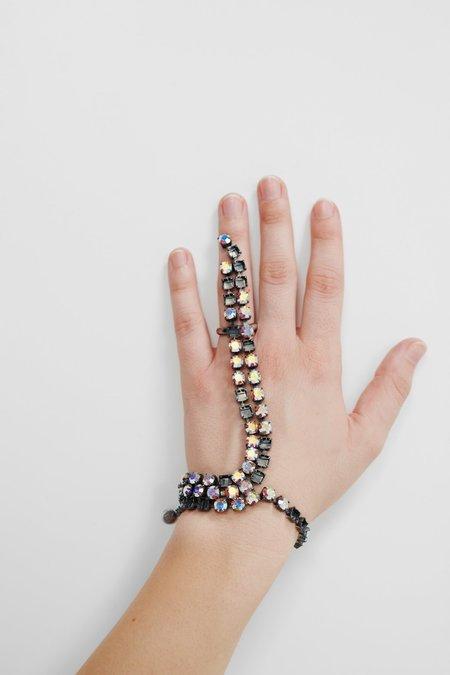 MM6 Maison Margiela Embellished Ring Bracelet - Brass Tone