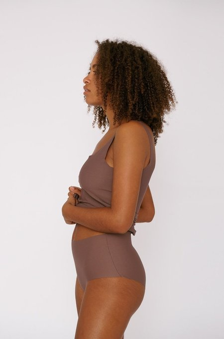 Organic Basics Invisible Cheeky High Rise 2 Pack - Taupe