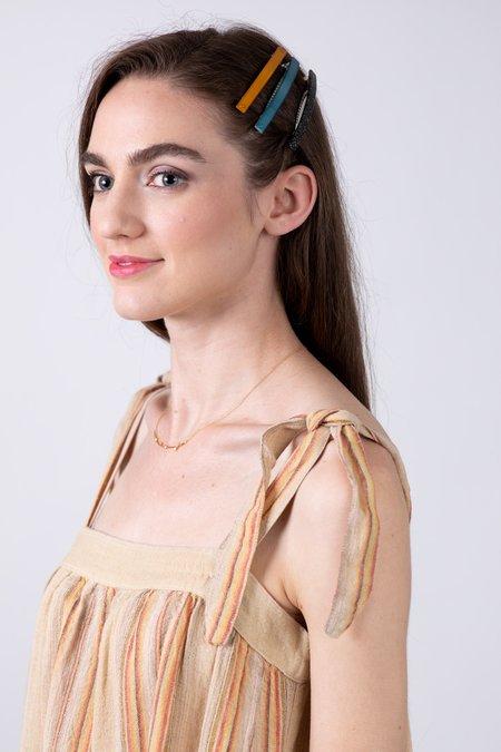 Diega Regina Dress - Beige/Yellow/Red