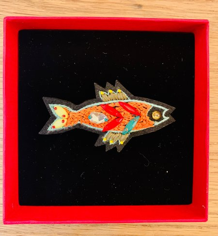My Bob Sardine Brooch - Orange