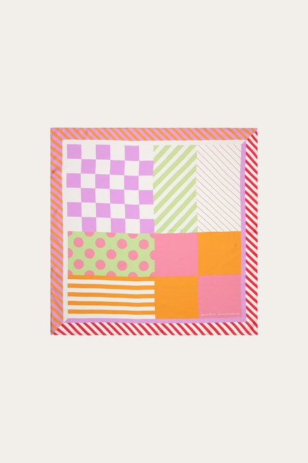 Stine Goya Gerdis Scarf - Graphic Pink