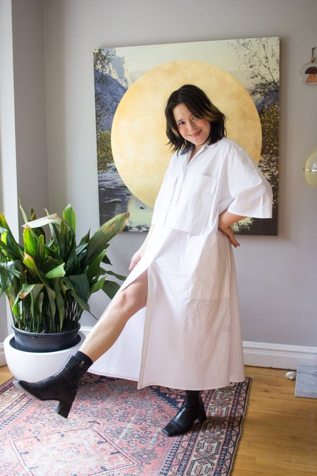 Odeyalo Rhubarbe Shirt Dress - White