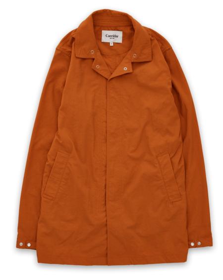 Corridor Natural Dye Nylon Madder Flower Rain Jacket - Orange