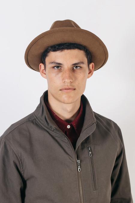 Yellow 108 Luke Hat  - Caramel Wool