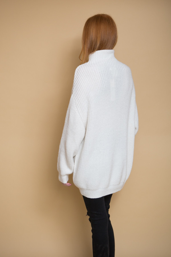 BLQ Basiq Knit Turtleneck Sweater - Ivory