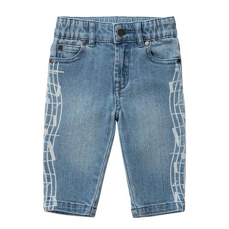 Kids Stella McCartney Jeans With Music Notes Print - Blue