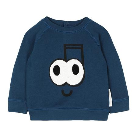 Kids Stella McCartney Sweatshirt With Music Note Print - Navy Blue