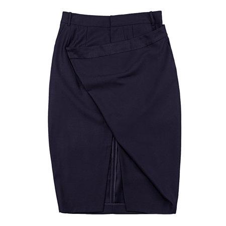 Vincetta Navy Cantilever Skirt