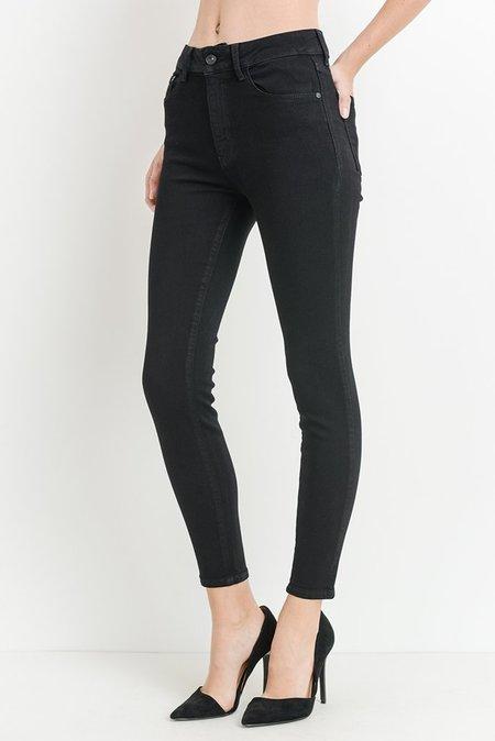 Just Black Hi Rise Basic Skinny Jeans - Black
