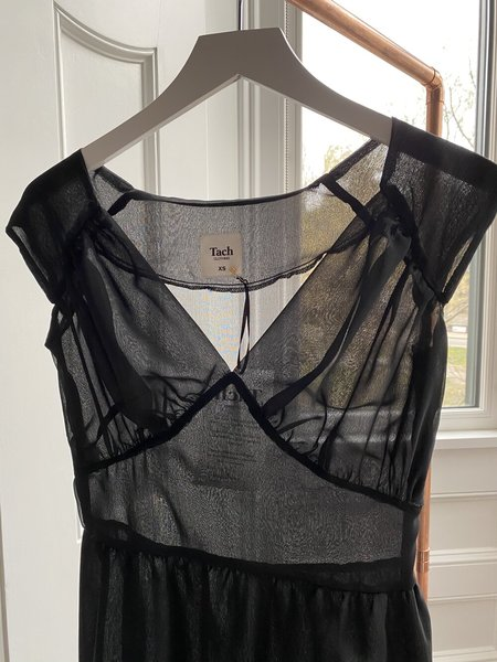 Tach Clothing Alma Chiffon Dress - Black
