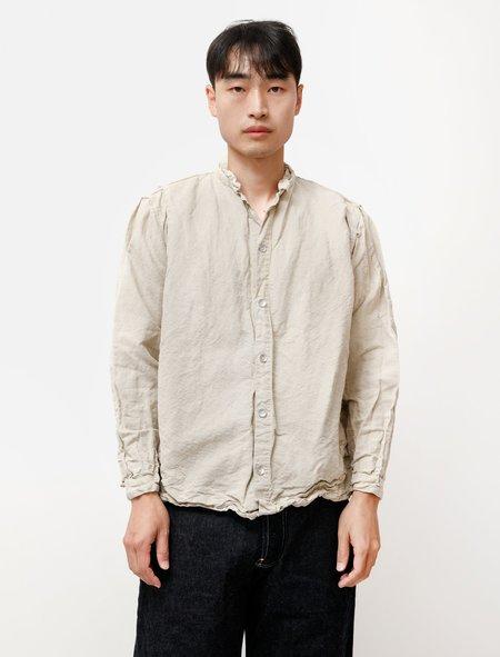 Tender 473 Sack Shirt in Linen Covert Rinsed Wash