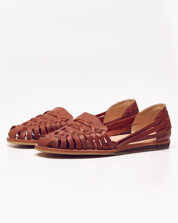 Nisolo Ecuador Huarache Sandal Burnt Sienna 5 for 5