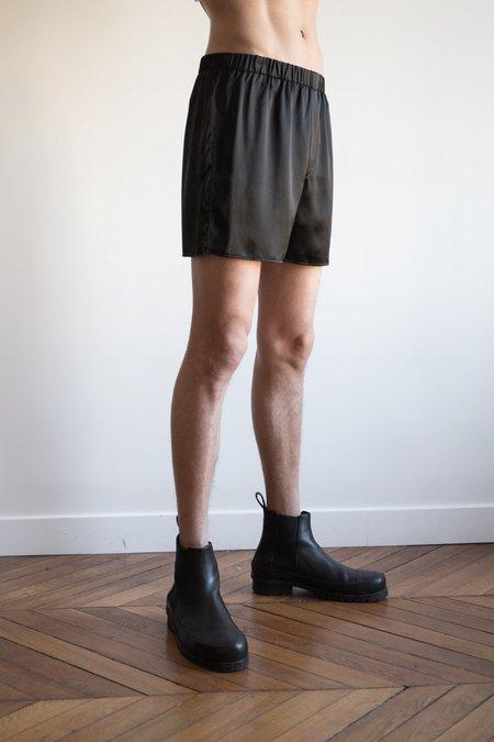 LUDOVIC DE SAINT SERNIN Silk Boxer Shorts - Black