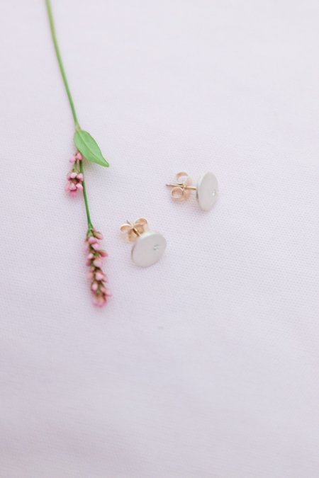 Saundra Messinger Little Solid Round Studs