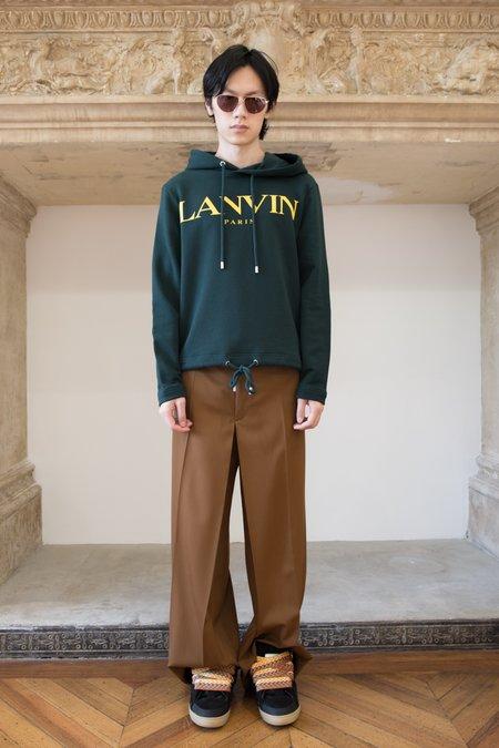 Lanvin Skate Drawstring Hoodie - Dark Green