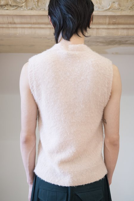 Lanvin Baby Alpaca Cashmere Knit Sleeveless Top - Pale Pink
