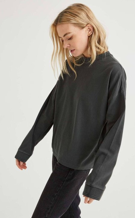 Richer Poorer Relaxed Long Sleeve Pullover - Cloud Wash
