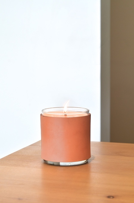 Made Solid LEATHER Scented Candle