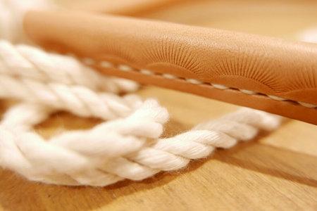 Unisex Made Solid Stamped Natural Rope Belt