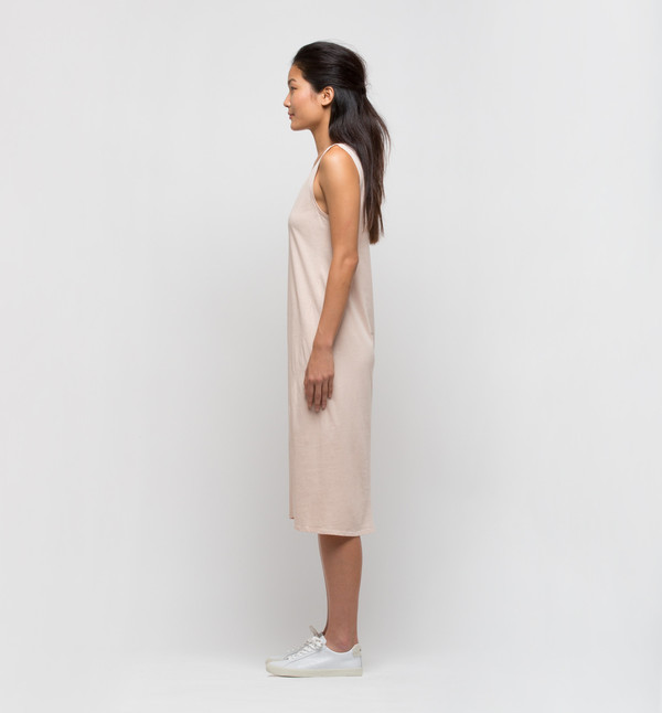 Kowtow Building Block Singlet Dress Blush