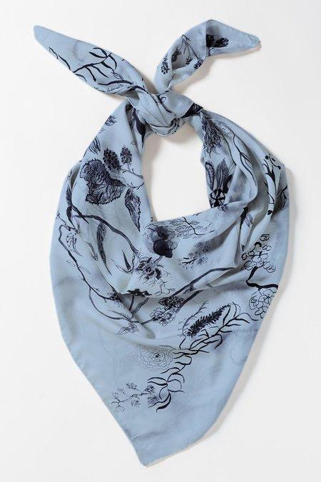 Olivia Wendel Bloom Scarf - Blue