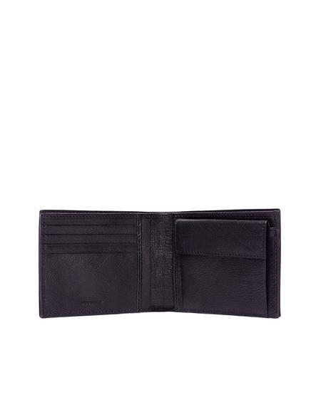 Ugo Cacciatori Leather Pocket Wallet - Black