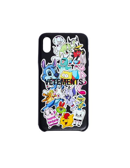 Vetements Cartoon Printed iPhone Xs Max Case