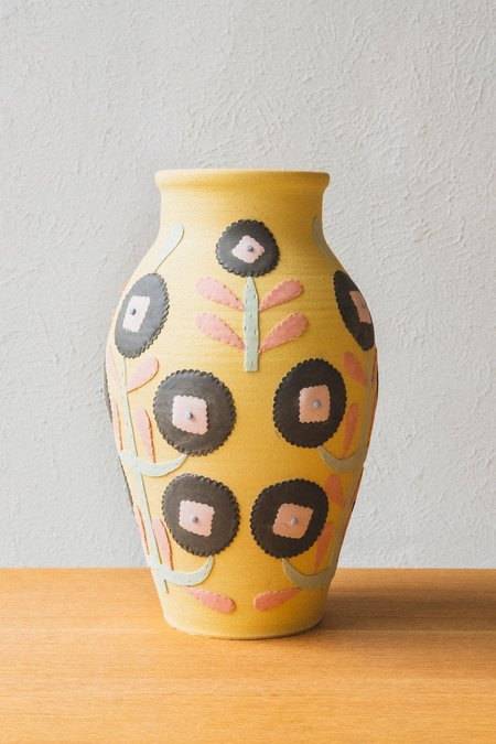 Heidi Anderson LARGE VASE - YELLOW FLORAL