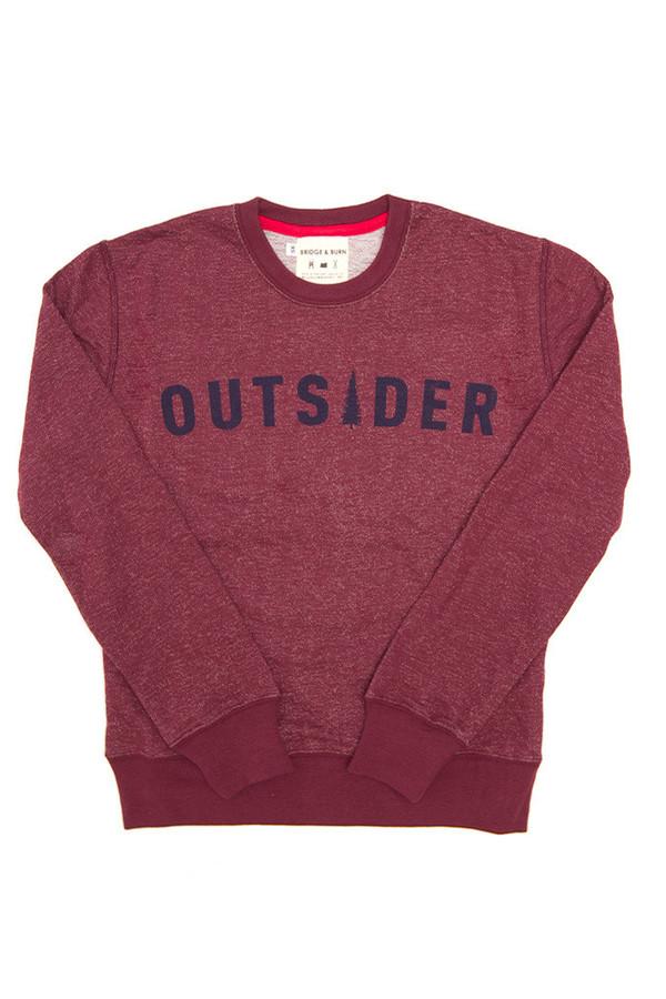 Bridge & Burn Columbiaknit Women's Outsider Sweatshirt Burgundy