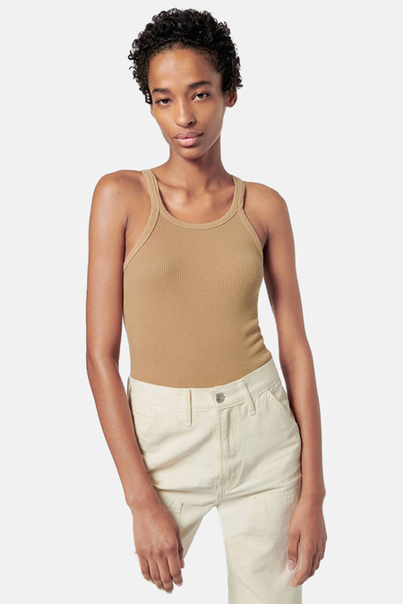 RE/DONE Ribbed Tank Top - Sand