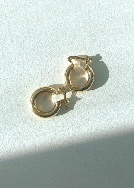 ALIBI NYC Small Thick Round Hoops