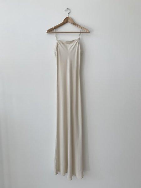 Kamperett Silk Long Slip - Ivory